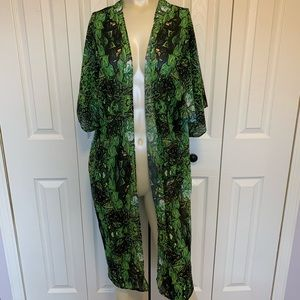 As Vida Green Cover Up Wrap One Size